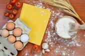 Yumurta noodles — Stok fotoğraf