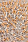 Cigaretter kaos från ovan — Stockfoto