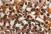 Cigarettes chaos closeup — Stock Photo