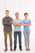 Diverse group of young people — Stock Photo