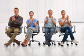 Successful executives applauding office — Stockfoto