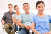 Multi ethnic group of people in seminar — Stock Photo