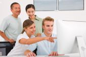 Successful businesspeople working togetherness in meeting — Foto Stock