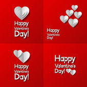 Set of Valentines day greeting cards — Stock Vector