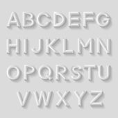 Decorative emboss alphabet — Vettoriale Stock