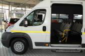 White Citroen Relay Light Commercial Transport  Van — Zdjęcie stockowe