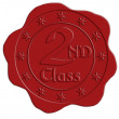 Second Class Red Wax Seal — Stock Photo #58116581