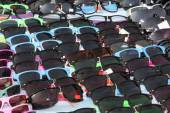 Colourful Sunglasses on Display at Stall — Stock Photo
