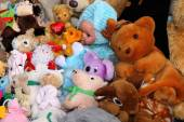 Various Stuffed Toys on Sale at Stall  — Stock Photo