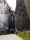 Adršpach - ciudad de la roca — Foto de Stock