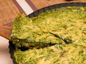 Spinach quiche — Stock Photo
