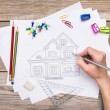 Hand drawing house — Stock Photo #72138931