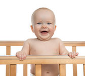 Infant child baby boy toddler shouting or yelling — Stock Photo