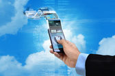 Internet on smart phone Concept — Photo