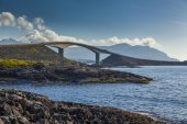 Picturesque views of the Atlantic Road. Norway. — Stock Photo