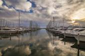 Sea port. South of France. Languedoc. Camargue. — Stock Photo