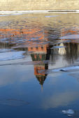 Reflection of the Moscow Kremlin — Stock Photo