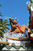 Statue of Chinese dragons  — Stock Photo