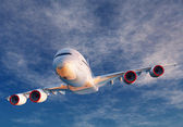 A passenger plane — Stock Photo