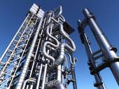 Tubes of factory — Stock Photo