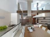 Interiors view of a modern kitchen — Stock Photo