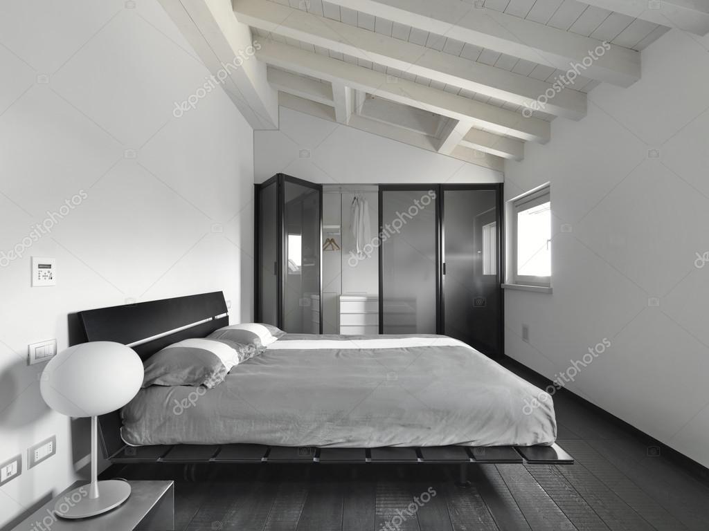 Vista interna di una camera da letto moderna — Foto Stock ...