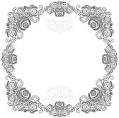Grey and white vintage frame — Stock Vector
