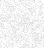 White and grey seamless pattern in Russian style gzhel — Stock Vector