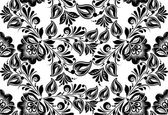 Vector floral background. Russian traditional ornament Hohloma. — Stock Vector
