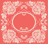 Vector background of floral pattern with traditional russian flower ornament. Khokhloma. — Stok Vektör