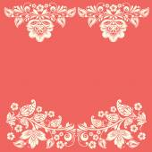 Vector background of floral pattern with traditional russian flower ornament. Khokhloma. — Stock Vector
