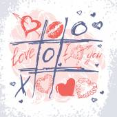 Valentines Day card — Vecteur