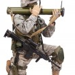 US soldier with anti-tank rocket launcher — Stock Photo #52834489