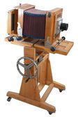 Old Wooden Big Format Camera — Stock Photo