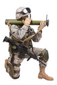 US soldier with anti-tank rocket launcher — Stock Photo
