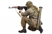 Mercenary with AK 47 — Stock Photo