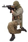 Mercenary with AK 47 — Stock Photo