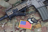 Us army   uniform and weapon — Stock Photo