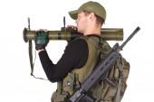 Mercenary with RPG — Stock Photo