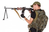 Mercenary with RPG gun — Stock Photo
