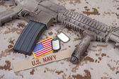 Us army special forces uniform and weapon — Stock Photo