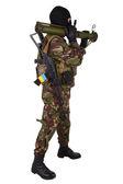 Ukrainian volunteer with RPG grenade launcher — Stock Photo