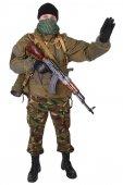 Insurgent with kalashnikov rifle — Stock Photo