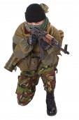 Fighter with ak-47 rifle — Stock Photo