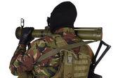 Oekraïense vrijwilliger met granaatwerper Rpg — Stockfoto