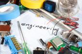 """engineering"" - radio-electronic parts — Stock Photo"
