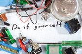"""Do it yourself"" - radio-electronic parts — Stock Photo"