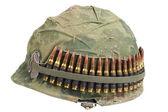 Oss armén hjälm med kamouflage täcka — Stockfoto