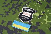 Belarusian volunteers in Ukraine  Army — Stock Photo