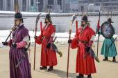 South Korean Royal Guards — Stock Photo
